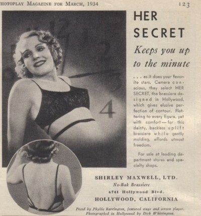 1934 Shirley Maxwell advertisement via flickr.