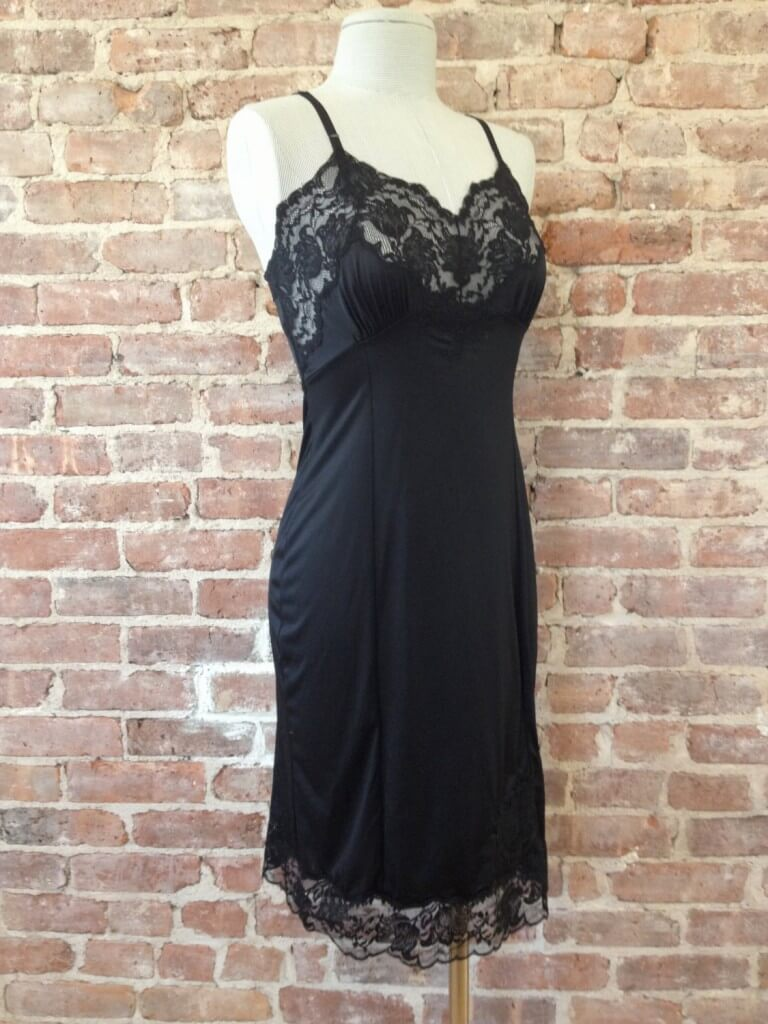 986e28f7c Vintage Nylon Black Full Slip -  25.00