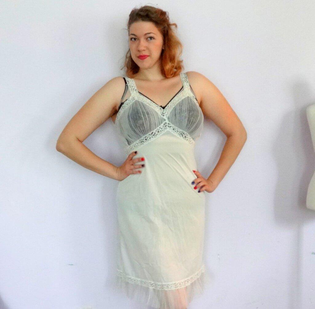 Vintage slip Lingerie du chat 1960s lingerie 1960s slip Vintage lingerie