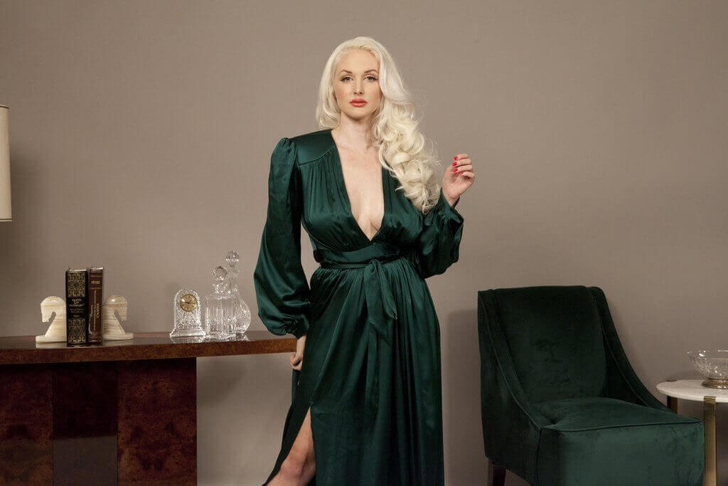 vivian dressing gown emerald green