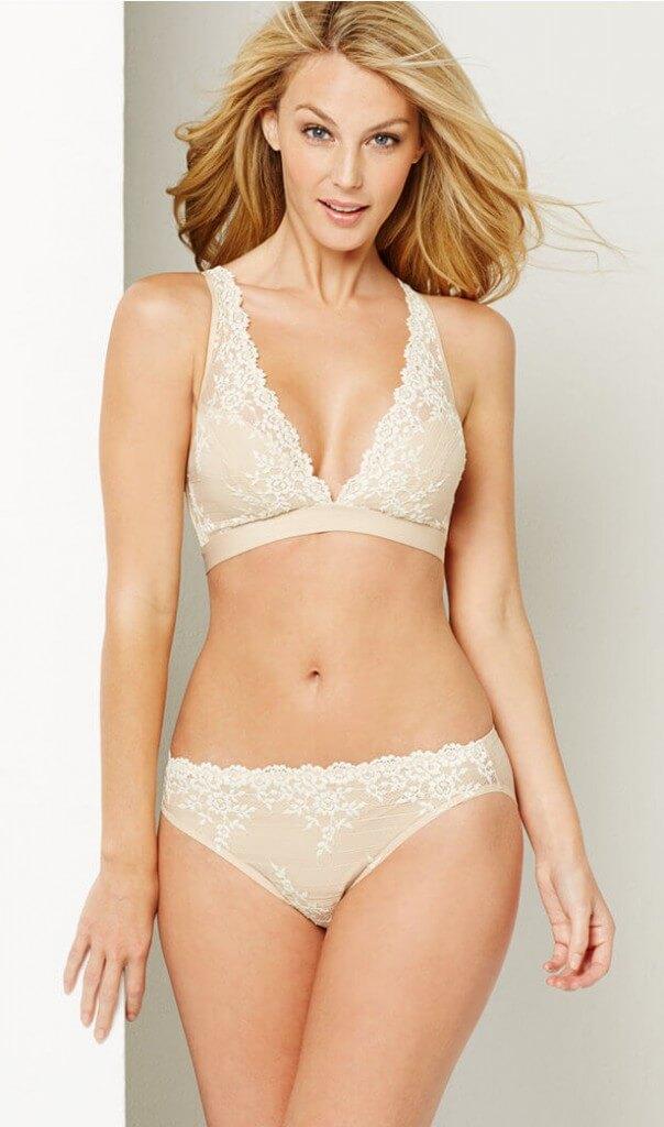 Wacoal Embrace lace soft cup wireless bra, band sizes 32-38. $38, via Macy's.