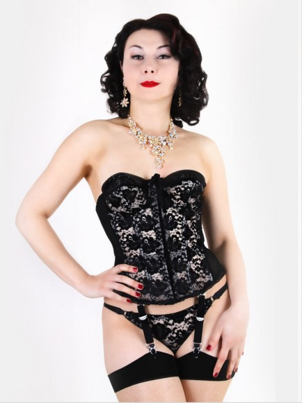 what katie did vintage black lace merrywidow 2