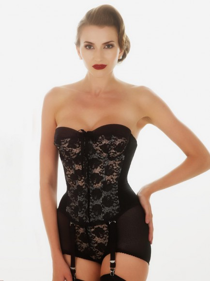 what katie did vintage black lace merrywidow