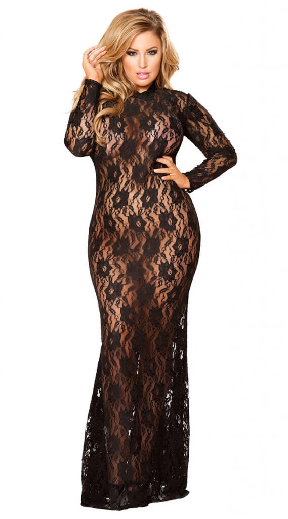 Draped in Lace Dress - $55.95