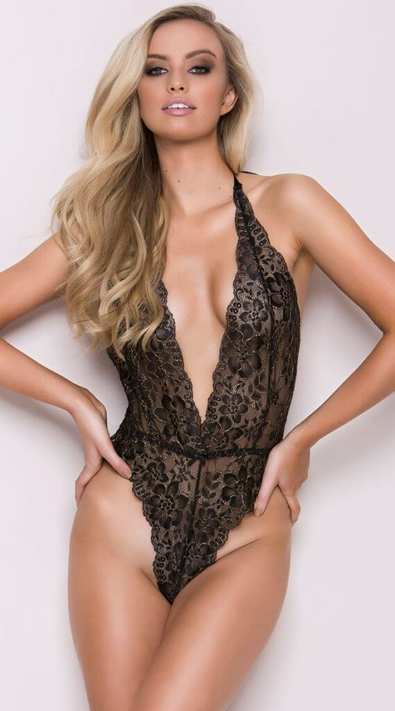 Yandy Lustful Kiss Lace Teddy - Valentine's Day Lingerie